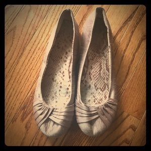 Shoes - Gold/brown flats. Worn once for an event.